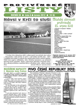 Protivínské listy 06/2012 (PDF, cca 4,2 MB)