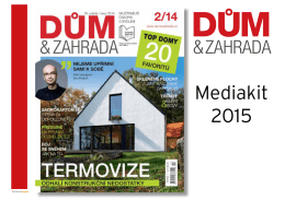 Mediakit 2015 - Dům a zahrada