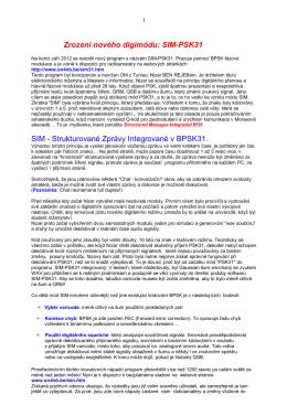 Historie a popis vzniku SIM (PDF)