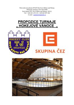 PROPOZICE TURNAJE - HC Vlci Jablonec