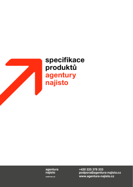 Specifikace produktu