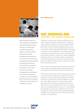 SAP® BUSINESS ONE - SKIL, spol. s ro