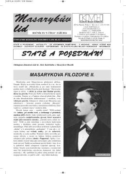 Masarykův lid 3/2014 - Klub dr. Milady Horákové