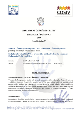 PARLAMENT ČESKÉ REPUBLIKY