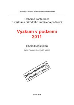 Konference Výzkum v podzemí 2011