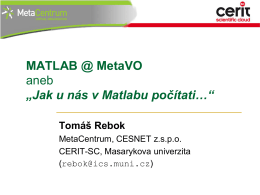Matlab - MetaCentrum