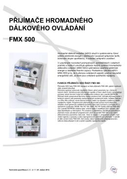 Přijímače hromadného dálkového ovládání FmX 500