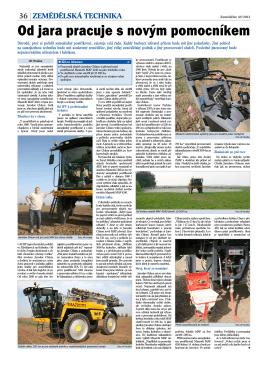 Od jara pracuje s novým pomocníkem (Zemědělec 49/2013)