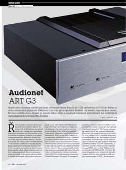 DOMÁCÍ KINO 11/2010 Audionet ART G3 Autor: Miroslav