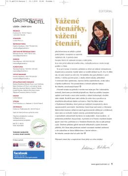 Stáhněte si časopis Gastro & hotel 01 / 2014 ve formátu PDF