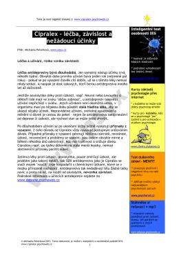 stáhnout v pdf - Cipralex