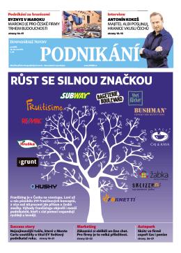 Příloha Podnikání HN - Česká asociace franchisingu