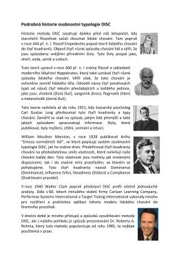 Podrobná historie osobnostní typo istorie osobnostní typologie DISC