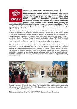 Jak se bydlí majitelům prvních pasivních domů v ČR