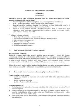 Příbalová informace - Informace pro uživatele AROMASIN
