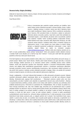 Recenze: D & L. Haarsma - Počátky (Origins)