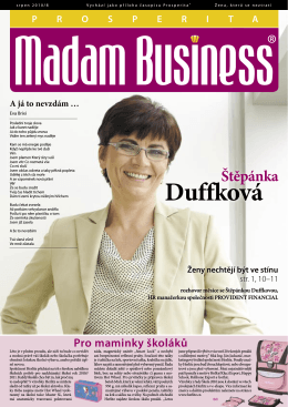 Srpen - Prosperita Madam Business