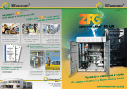 Brožura ZERO FUEL GEN® 50kW ORC