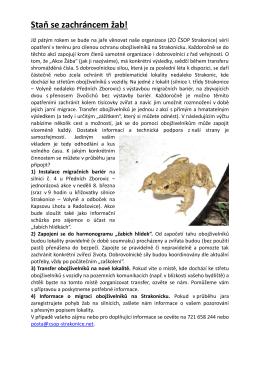 Staň se zachráncem žab! - ČSOP Strakonice Pozvánky na akce