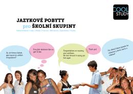 Coolstudy Katalog jazykových kurzů pro skupiny