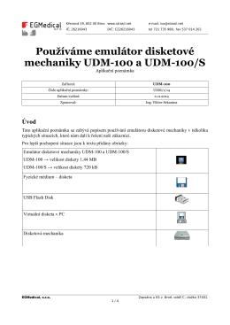 Používáme emulátor disketové mechaniky UDM-100 a UDM