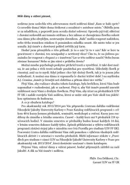 Katalog vzdělávacích programů pro akademický rok 2013/2014