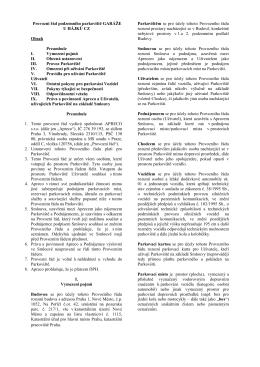 Provozní řád (pdf)