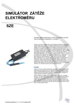 Technická specifikace SZE 10
