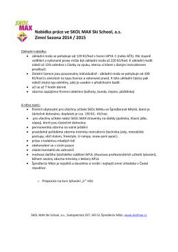 Více informací o nabídce práce ve SKOL MAX ZDE