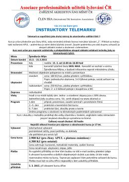 propozice TELEMARK jaro 2015