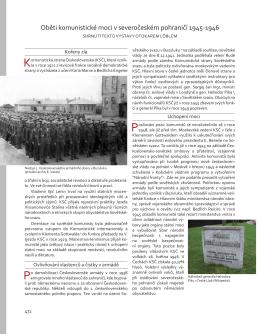 Oběti komunistické moci v severočeském pohraničí 1945-1946
