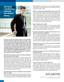 J&T Bond s atraktivním výnosem i pro drobné klienty