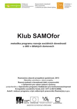 Metodika programu SAMOfor