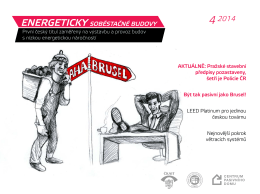 První český titul zaměřený na výstavbu a provoz budov s nízkou