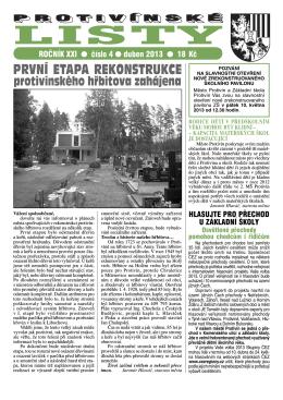 Protivínské listy 04/2013 (PDF, cca 2,1 MB)