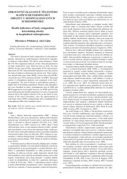 Zdravotní ukazatelé tělesného složení determinující obezitu u