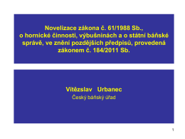 PhDr. JUDr. Vítězslav URBANEC, Ph.D. - zákon 184/2011