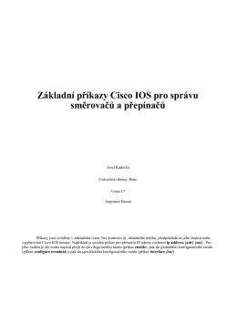 Základní příkazy Cisco IOS pro správu směrovačů a