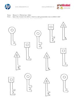 Téma: Březen 1t - Příchod jara - Klíče Úkol: Spoj