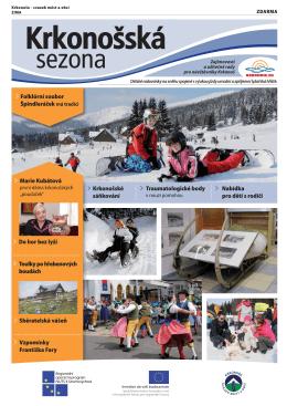 Krkonošská sezona zima 2013