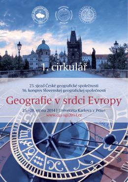 Geografie v srdci Evropy 1. cirkulář
