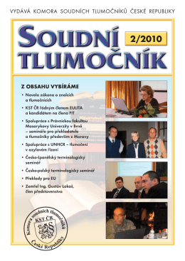2/2010 - KST ČR - Komora soudních tlumočníků
