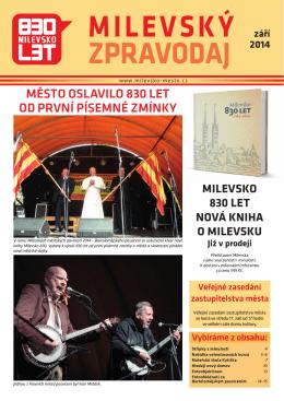 Milevský zpravodaj 9-2014