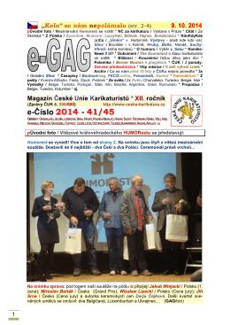 e-Číslo 2014 - 41/45 - Hrvatsko društvo karikaturista
