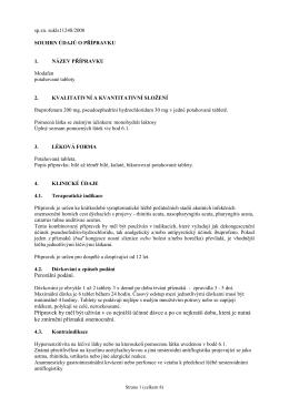 SPC Modafen - Státní ústav pro kontrolu léčiv