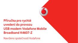 Příručka pro rychlé uvedení do provozu USB modem Vodafone