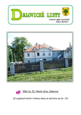Dům čp. 31, Hlavní ulice, Dalovice