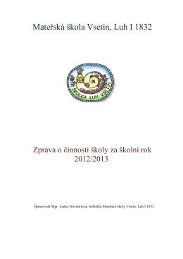 Výroční zpráva za školní rok 2013/2014