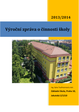 Výroční zpráva školy za školní rok 2013/2014 v pdf