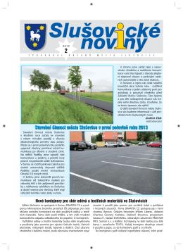 Slušovické noviny – č. 2/2013